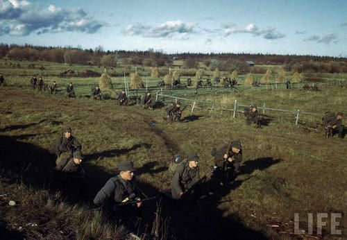 Finnish infantry battalion in operations against Germans forces, Finland, October 1944.