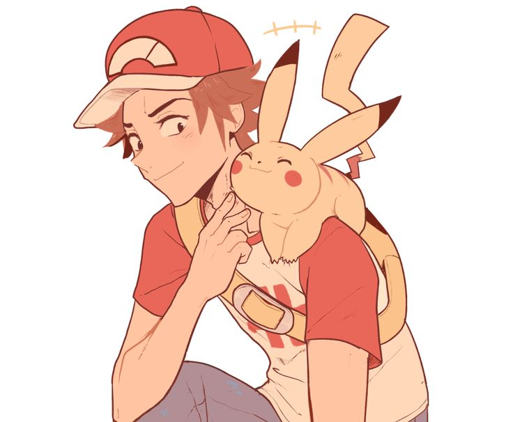 Trainer Red and Pikachu