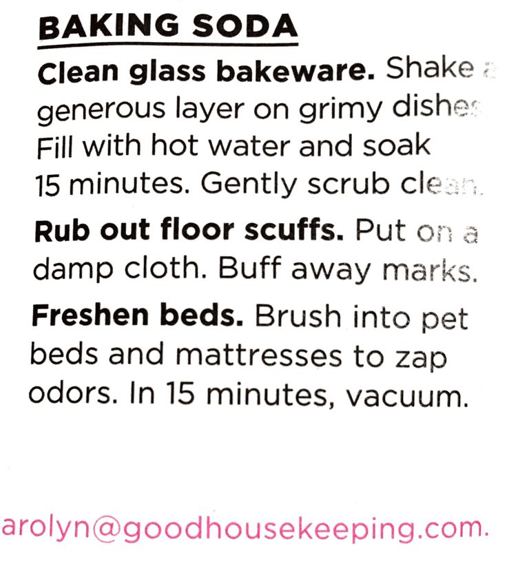 Baking Soda to freshen  mattresses and pet beds.