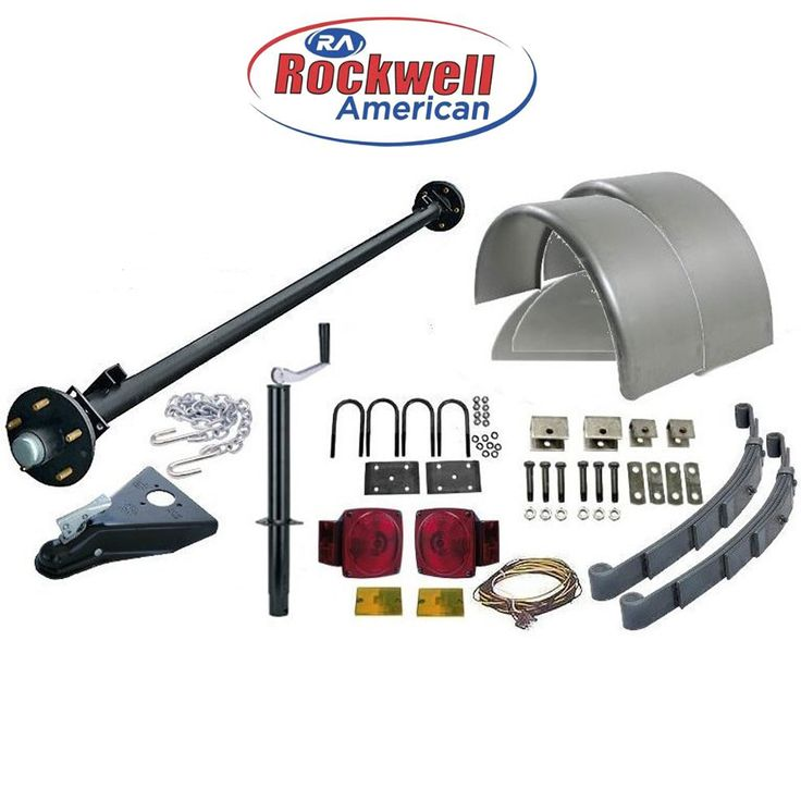 6′ Wide Utility Trailer Parts Kit – 3,500 lb Capacity – Model 1110 Standard– Rockwell American Posi-Lube Idler Axle with a Premium Powder Coat Finish. Standard Kit comes w/o Wheels & Tires.