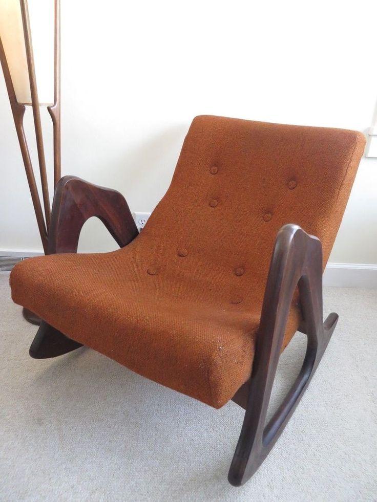 Awesome ADRIAN PEARSALL Mid Century Modern Craft Associates ROCKING CHAIR Vintage  Lounge #CraftAssociatesAdrianPearsall