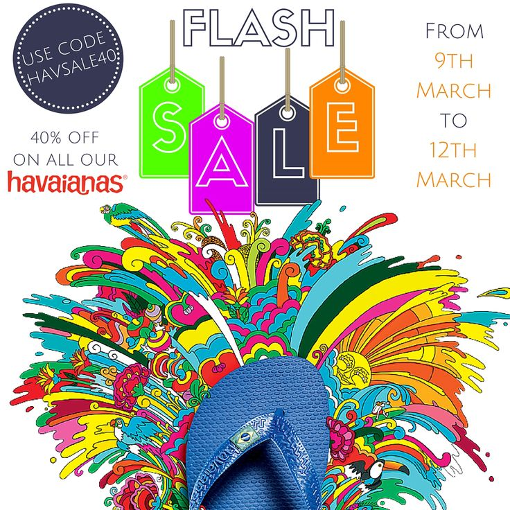 Get 40% off all Havaiana's by using code HAVSALE40 at checkout! With the latest designs and all at 40% off!!   http://www.sanddollardubai.com/brands/havaiana.html