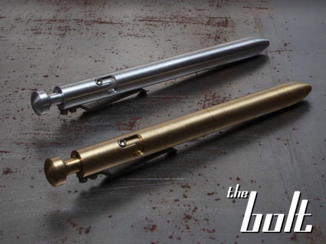 The BOLT- A Machined Bolt Action Pen by KarasKustoms