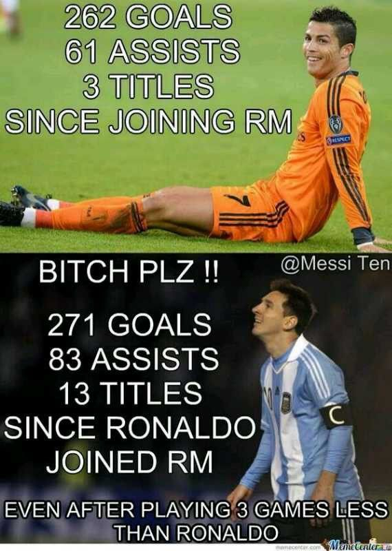 #Ronaldo vs #Messi <--- I dont really get the whole rivalry thing, but its funny