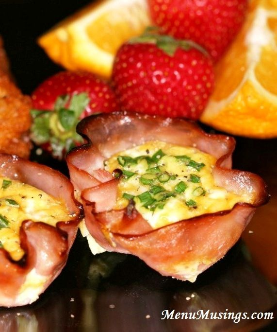 Menu Musings of a Modern American Mom: Ham Cups Seems like a great idea and looks so tasty! I'm sure the guys would love these!