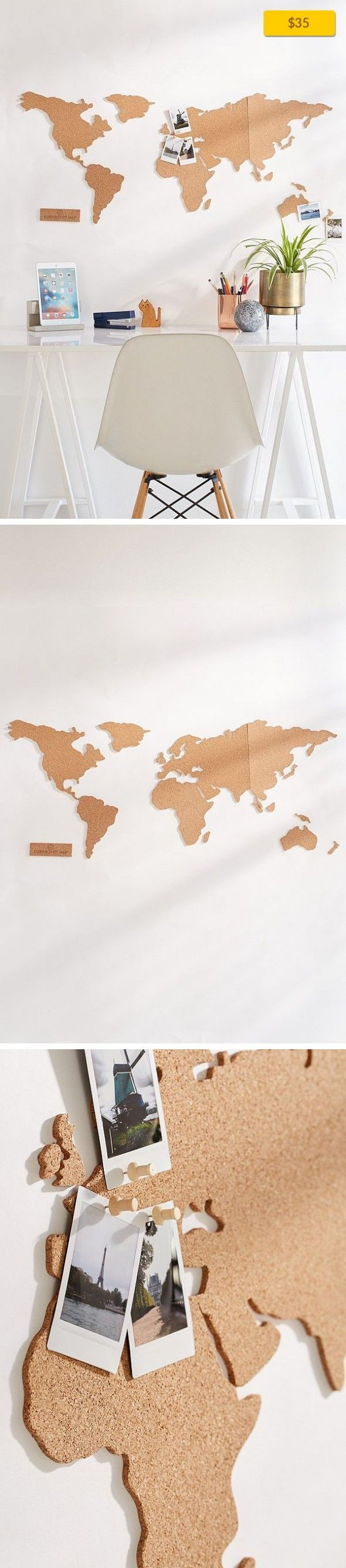 The 25 best cork world map ideas on pinterest cork map cork cork board world map on campus desk storage self adhesive world map cork board with 16 push pins for adding photos postcards tickets more gumiabroncs Choice Image