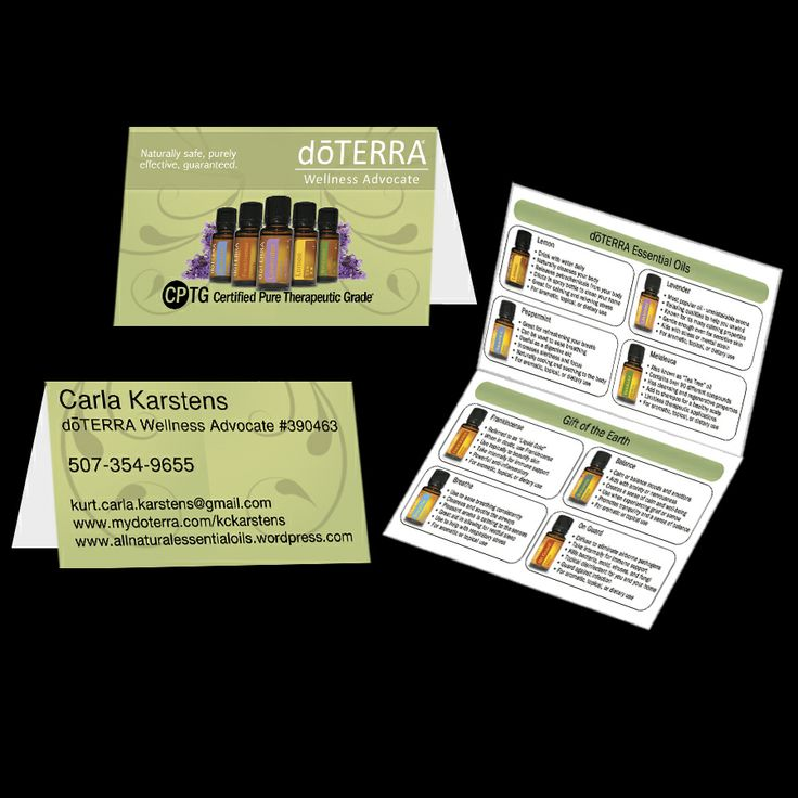 These attractive business card designs are a unique way to advertise your dōTERRA business.  They are in compliance with dōTERRA's policy and they have the required license.  This price is for the Innovative Design Studio exclusive DESIGN ONLY and does not include any printed cards.  Upon appro...