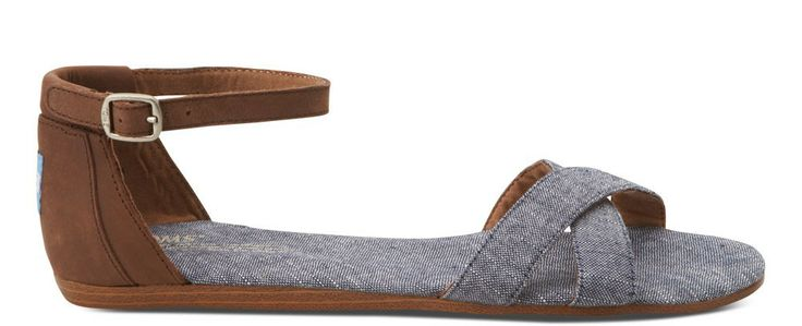 Chambray TOMS sandals? YES please!