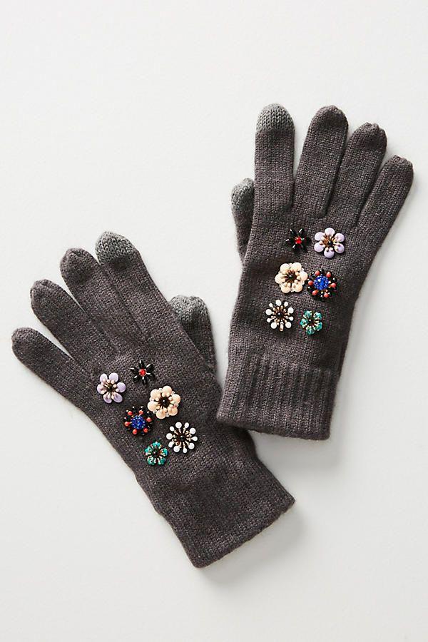 Slide View: 1: Retro Floral Gloves