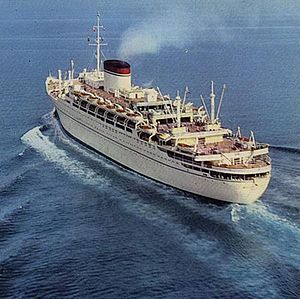 MS Giulio Cesare was a luxurious ocean liner built for the Italian Line. She was a sister ship to MS Augustus that was launched in the same year. She was built for the South America service like her sister. These two ships' specification and design were very similar.