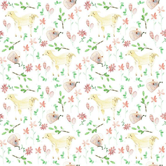 Beautiful cotton material / fabric printed Original design, insulated with hand-painted watercolors. Digital printing is safe for children and has the highest textile safety certificates - OEKO TEX STANDARD 100.  Specification:  Nansuk Composition: 100% cotton Weight: 123 gr / m2 Shrinkage: 3% with a length of 3% of the width Weave: canvas  Satin Composition: 100% cotton Weight: 130 gr / m2 Shrinkage: 2% of length 2% of width Weave: satin  Calico Composition: 100% cotton Weight...