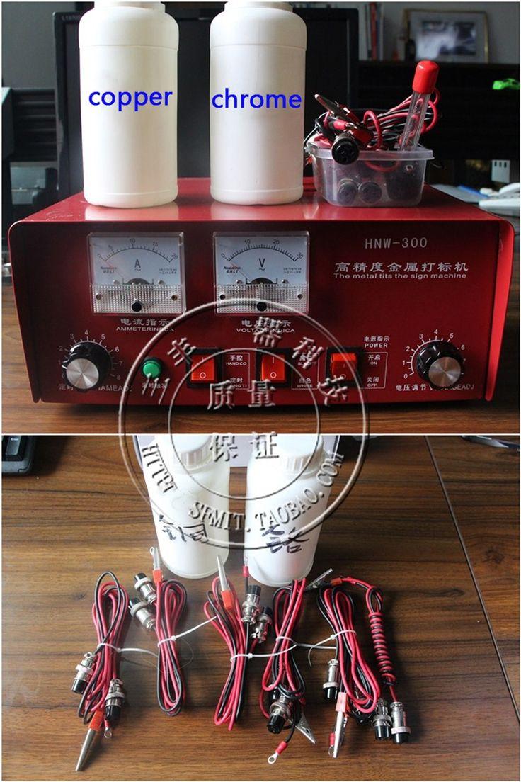 (134.30$)  Watch here  - new Electrochemical Etching Machine Marking Pattern On Metal Steel 300W 0.6-10S