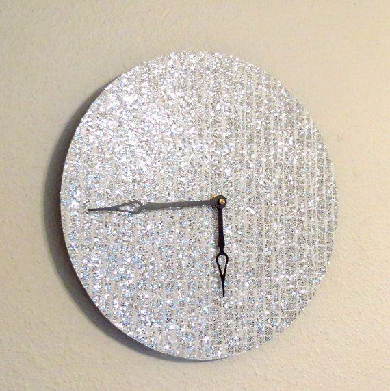 Unique Wall Clock Silver Clock Quartz Clock Home By