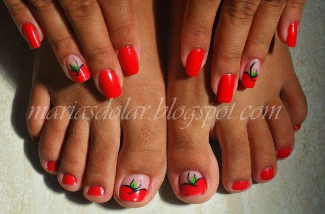 Marias do Lar: Nail Art, Fruto Proibido!