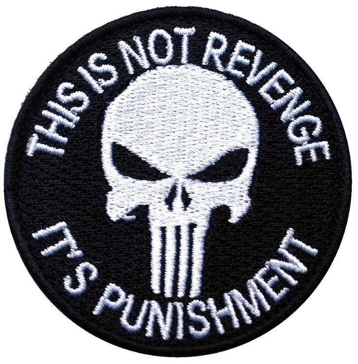 Velcro Punisher Black Jacket Cap Tactical Morale Patch