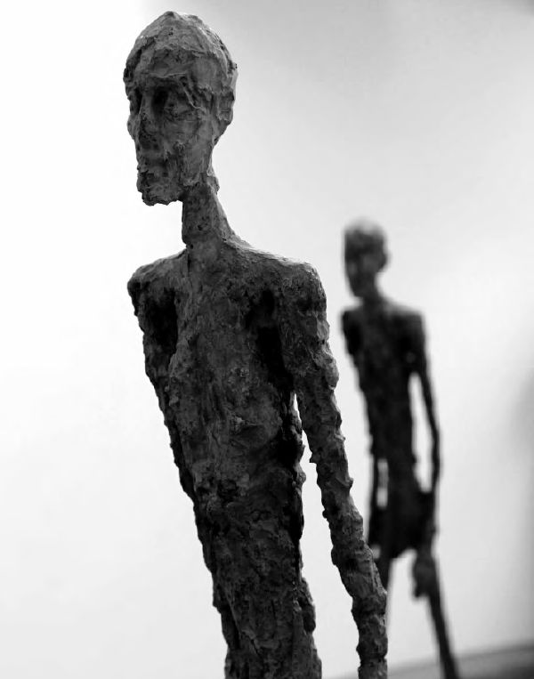 Giacometti & Maeght  Photography by: Mart Engelen  L'homme qui marche II, 1960