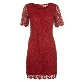 Classic Lace Shift Dress - Clothing