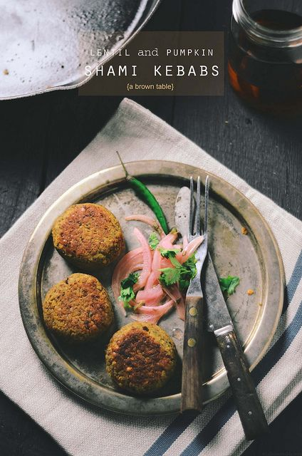 vegetarian shami kebab by abrowntable, via Flickr