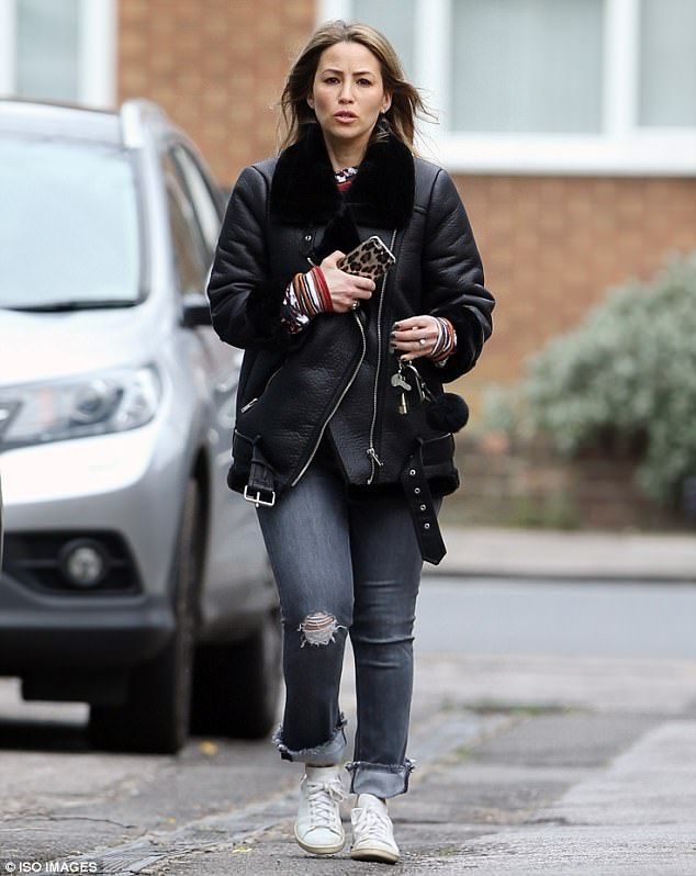 Here she comes: Rachel Stevens was seen for the first time since confirming her imminent appearance on Celebrity MasterChef as she stepped out in north London on Wednesday afternoon