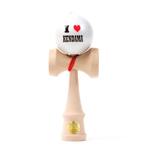 Kendama USA - Ozora - I Heart Kendama - White Ball