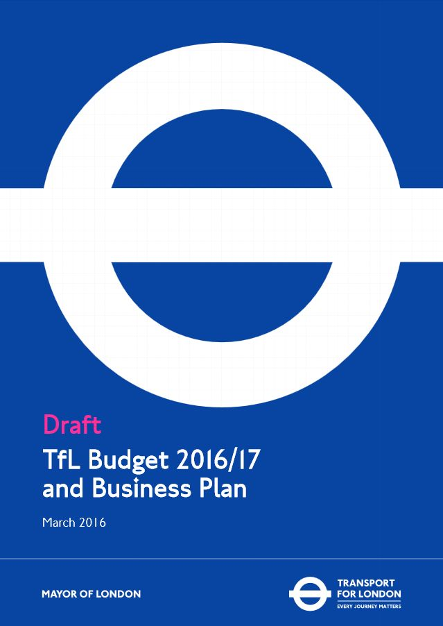 CLondoner92: TFL releases their 2016/17 budget and business pla...