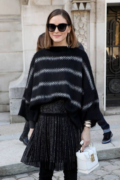 ff1f3fde6910 Olivia Palermo attends the Elie Saab show as part of the Paris Fashion Week  Womenswear Fall Winter 2018 2019 on March 3 2018 in Paris France
