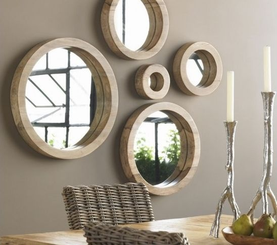 collection of circle mirrors