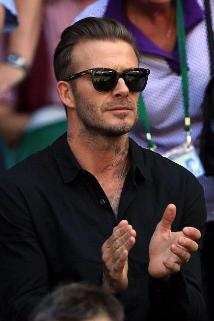 David Beckham wearing Victoria Beckham the Vb Tortoiseshell Sunglasses