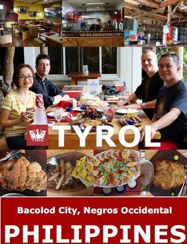 TYROL RESTAURANT a delightful restaurant offering Austrian  Cuisines in Bacolod City, Philippines