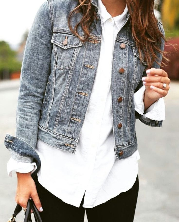 Outfit/ denim + blanco