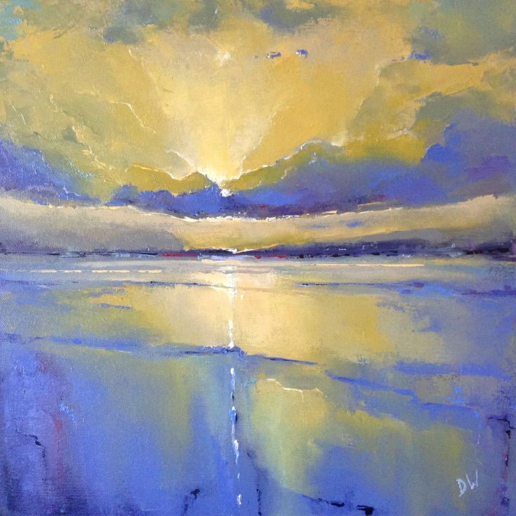 ARTFINDER: Holkham Sky by Dan Wellington - Having made numerous trips to the North Norfolk coast I was inspired to really try and capture the intense light and abstraction of the setting sun and wet s...