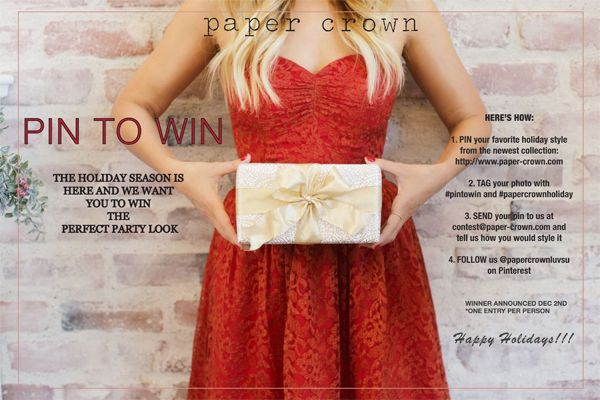Oh how I would love a piece from LC's holiday look book Giveaway: Win a Holiday Party Look From Paper Crown
