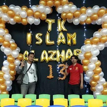 balon dekorasi bentuk bintang untuk tk islam al azhar