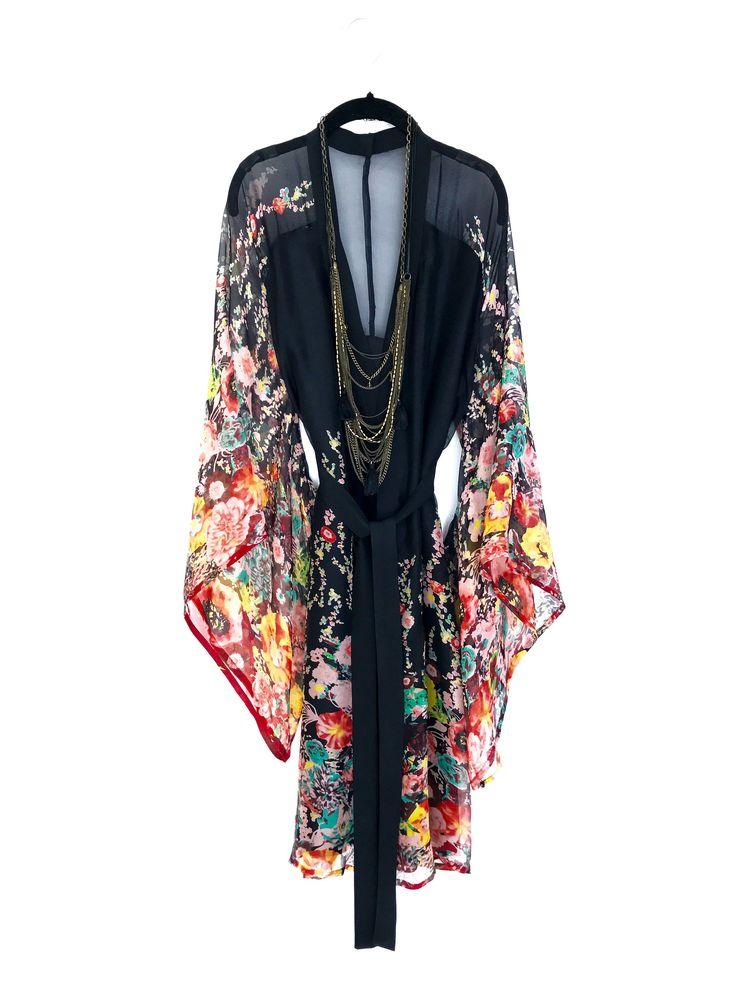Silk Kimono robe, black pure silk kimono, gift for her, honeymoon robe, bridesmaid gift. by Bibiluxe on Etsy https://www.etsy.com/listing/530905179/silk-kimono-robe-black-pure-silk-kimono