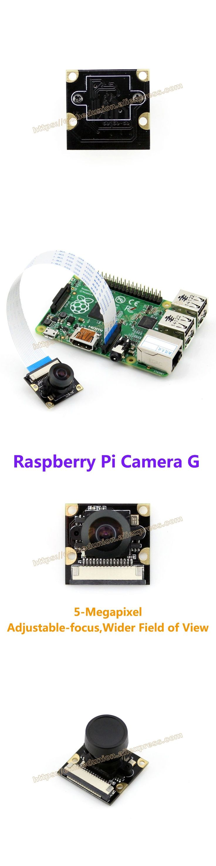 Raspberry Pi Camera G Module Supports all Revision of Raspberry Pi 5-Megapixel OV5647 Sensor Adjustable Focal Fisheye Lens