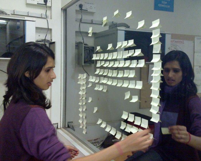 Conducting card sorting by Priyanka Mehta at Coroflot