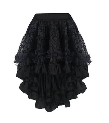 Women's Bottoms - Lace Ruffled Steampunk Skirt – Rebel Style Shop