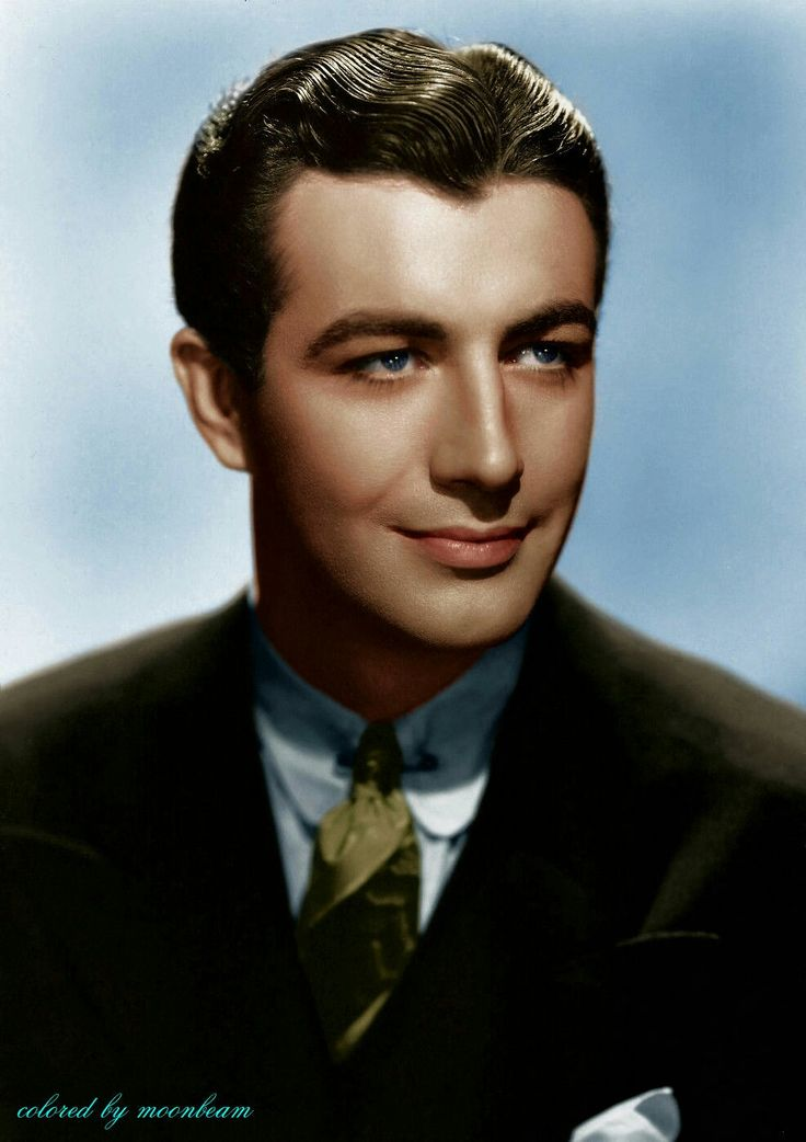 Robert Taylor,in color. So handsome and a great actor.