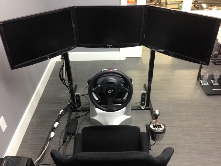 human racing triple monitor setup human racing simulator