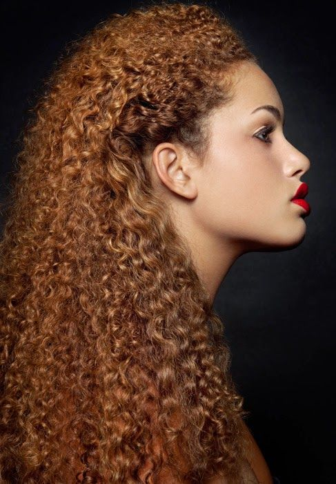 Beautiful Textures Naturally Straight On Colored Hair