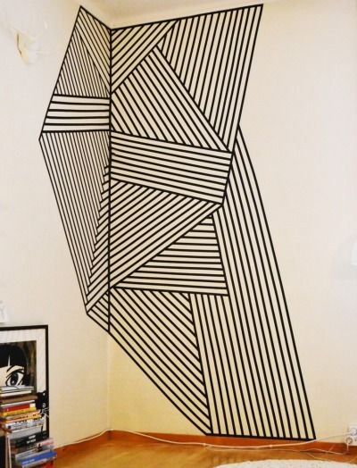 25 best ideas about tape wall art on pinterest tape art for Washi tape wall designs