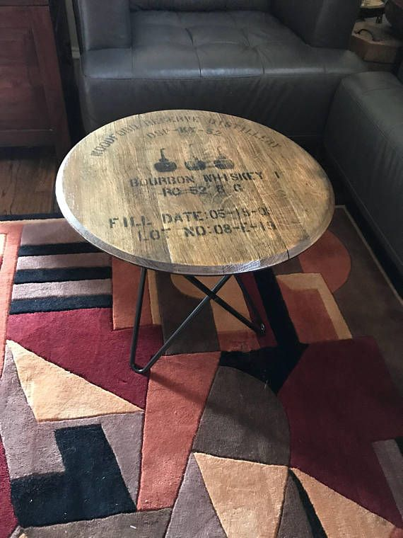 how to build a bourbon barrel coffee table