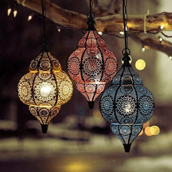 Antique Look Modern Turkish Vintage Moroccan Golden Ceiling Etsy In 2020 Home Lanterns Hanging Lamp Moroccan Ceiling Light