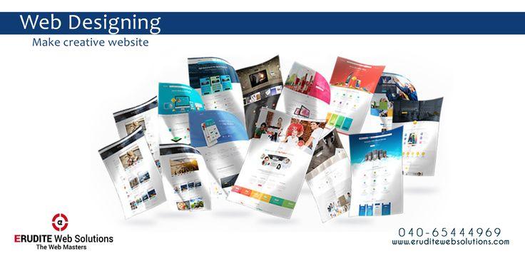 Web Designing :- Make creative website  more info-> http://www.eruditewebsolutions.com/services.php #WebDesigning #Development #WebDevelopment #CustomWeb