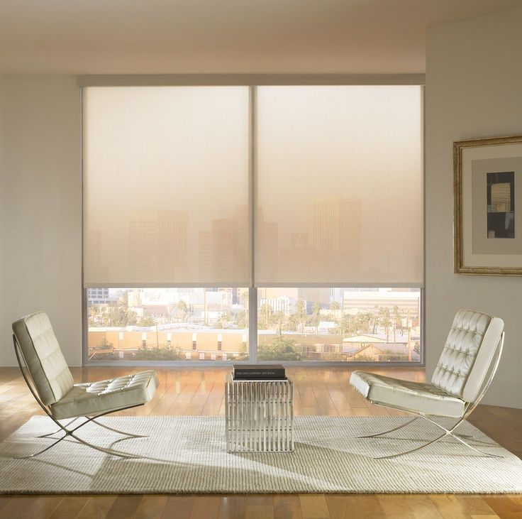 Motorized shades help set the right mood in your condo for Motorized roll up shades