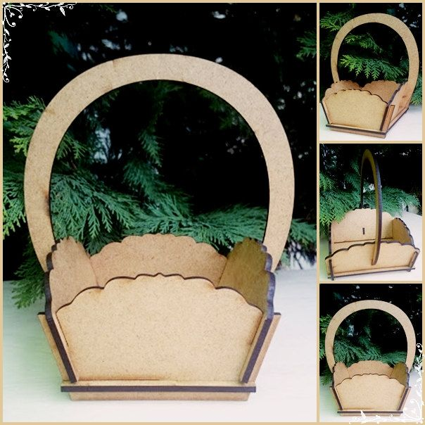 Decorative Gift Baskets - MDF Blanks by DreamArtFactory on Etsy