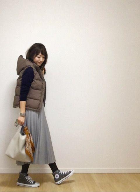 UNIQLO×無印良品でダウンベストをきれい目に。|35歳ママのプチプラを品良く着こなしたいファッションブログ