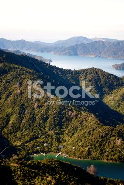 View to Lochmara Bay, Marlborough Sounds, NZ Royalty Free Stock Photo