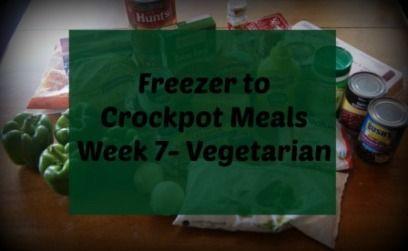 Freezer To Crockpot Cooking | Vegetarian Shopping List