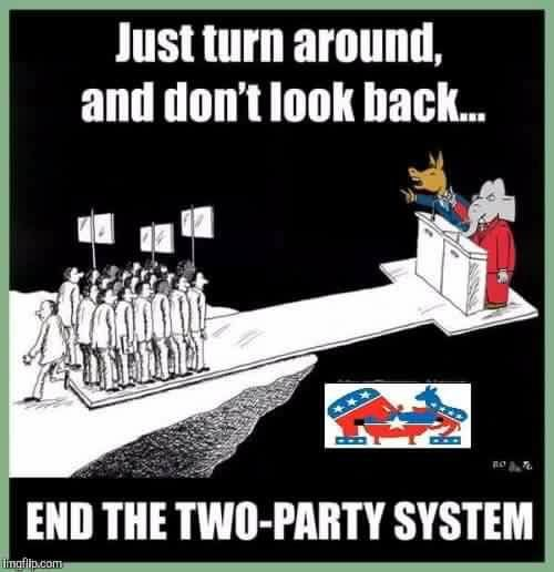 Voting for Gary Johnson will release the grip of the two party system - Imgur